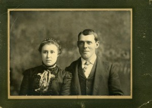 Gorrell-Ellsworth and Rose Clark Wedding Photo 1896